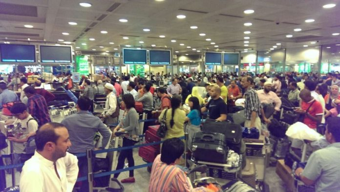 Reach airport at least three hours prior to departure