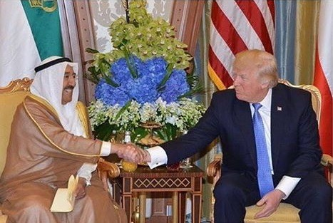 His Highness Amir meets with US President, Donald Trump