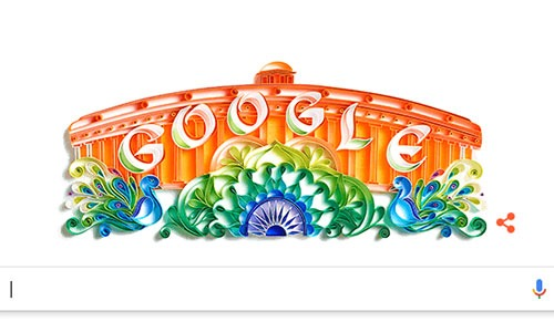 Google celebrates India's I-Day with an artistic doodle