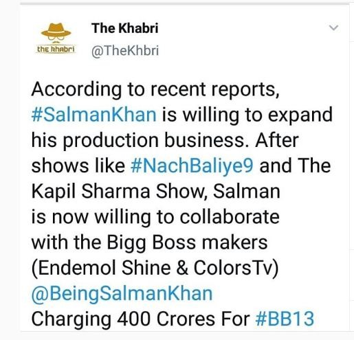 Rumor: Salman Khan is getting Rs 400 crore for 'Bigg Boss 13'? Oh wait, there's extra added to it