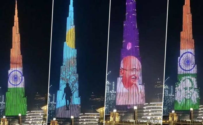 Burj Khalifa pays tribute to Gandhi ji on 150th birth anniversary