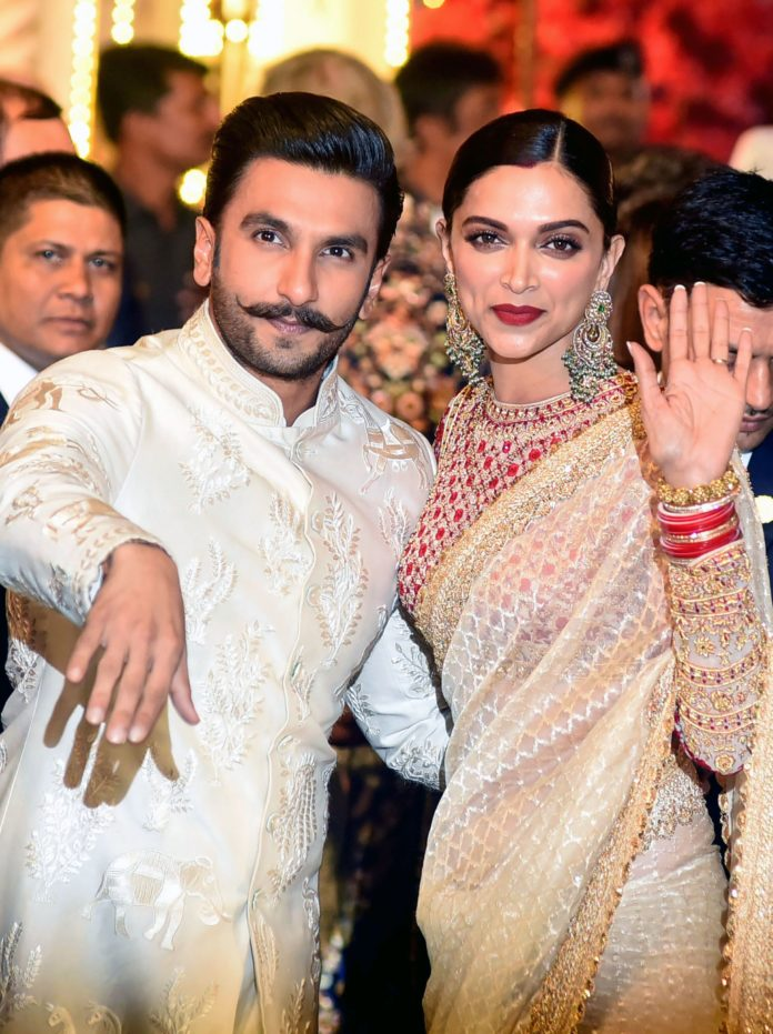 DeepVeer Snapped at Tirupati Temple; They look like a newlywed couple on their first wedding anniversary