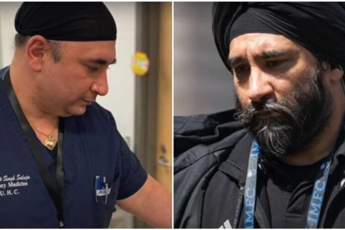 Two Sikh doctors shaved their beards so they can safely treat coronavirus patients